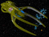 Vorlon dreadnought in deep space